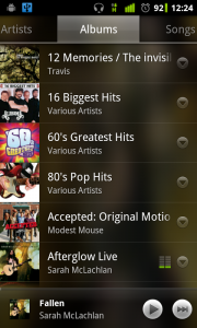 Google Music - album view on Android